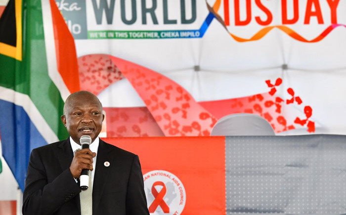 Deputy President David Mabuza in Soweto on 1 December 2020 to to commemorate World Aids Day. Picture: @GovernmentZA/Twitter