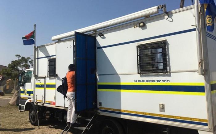 uMthwalume's mobile police unit. Picture: Nkosikhona Duma/EWN