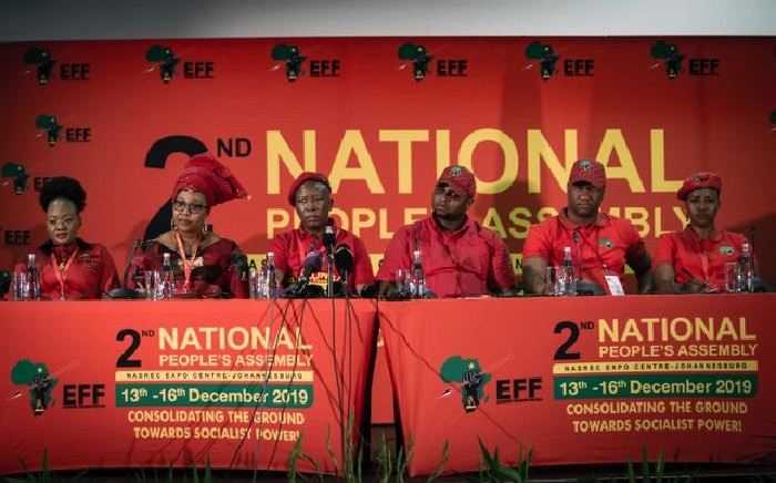 Newly elected EFF top six. Picture: Sethembiso Zulu/EWN