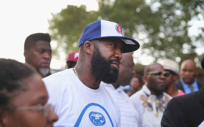 Tracy Martin, the father of Trayvon Martin who was killed by a neighborhood watch volunteer in 2012, attends Peace Fest in Forest Park on August 24  in St Louis, Missouri.