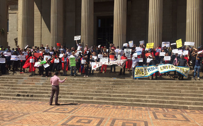 FILE: Academics call for government's blueprint for free education on 7 October 2016 at Wits University. Picture: Kgothatso Mogale/EWN.