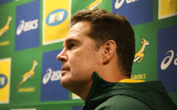 FILE: Springbok Coach Rassie Erasmus addresses the media after selecting his Rugby Championship squad in Stellenbosch. Picture: Bertram Malgas/EWN