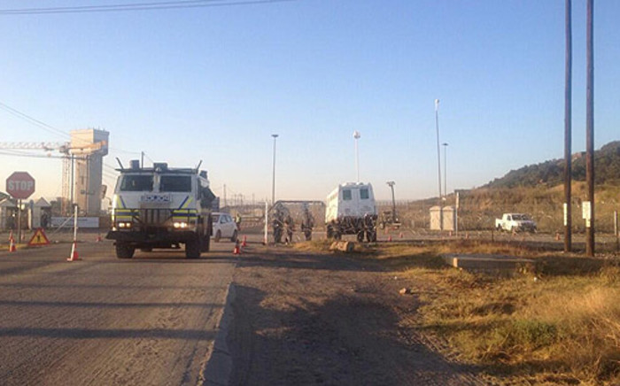 FILE: Army and police deployed in Marikana during strike action on 14 May 2014. Picture: Govan Whittles/EWN.