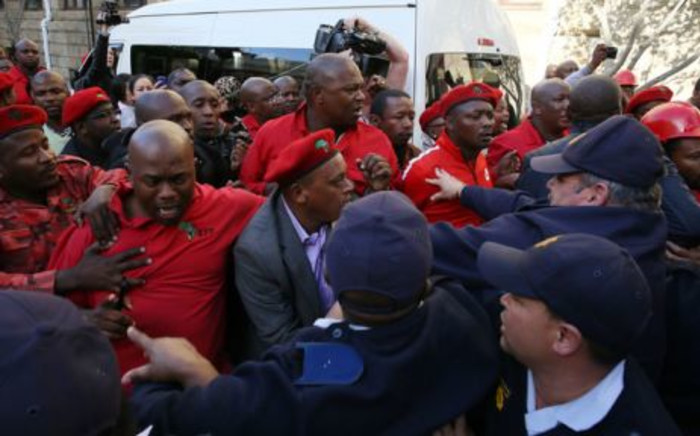 FILE. 20 EFF MPs were found guilty of heckling President Zuma during his question & answer session. Picture: Supplied