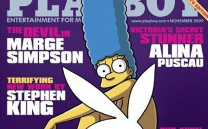 Marge Simpson - a Playboy Bunny. Picture: AFP/Playboy