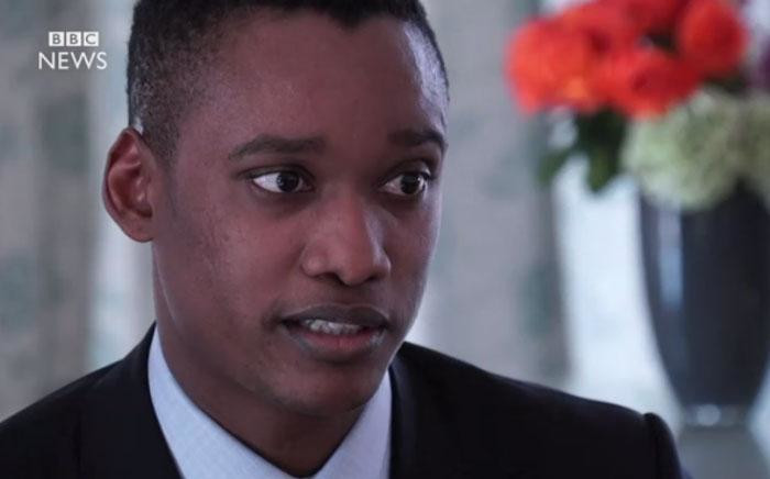A screengrab of a BBC interview with President Jacob Zuma's son Duduzane Zuma.