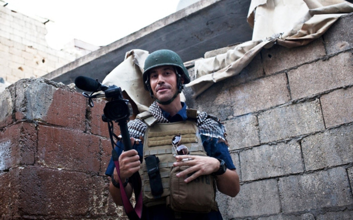 FILE: A picture taken on November 5, 2012 in Aleppo shows US freelance reporter James Foley. Picture: AFP.