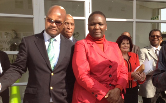 Police Minister Nathi Mthethwa and Commissioner Riah Phiyega. Picture: Barry Batemen/EWN.