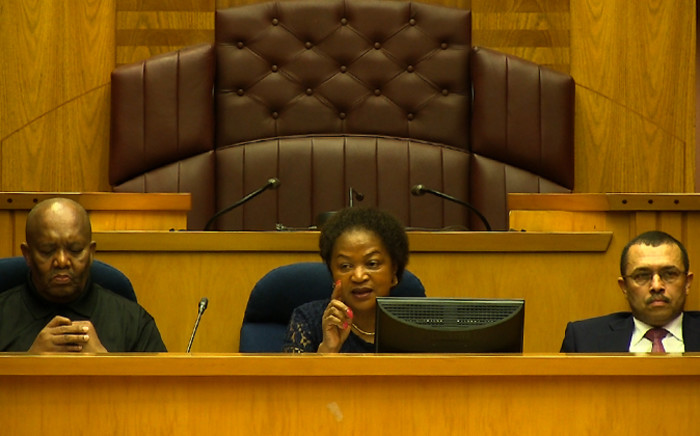 Screenshot of National Assembly speaker, Baleka Mbete.