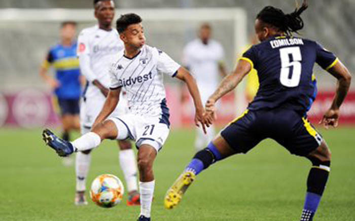 Sameehg Doutie in action against Cape Town City FC at Cape Town Stadium. Picture: @BidvestWits/Twitter