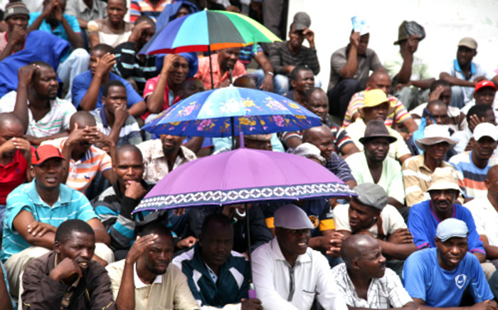 mplats miners at the Komanani shaft have agreed to go back to work while workers Union AMCU negotiates with mine management regarding the possible retrenchment of 14,000 workers. Picture: Sebabatso Mosamo/EWN