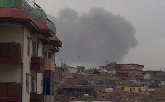 FILE: Smoke billows in central Kabul where a heavy explosion was heard on 19 April 2016, witnesses told Reuters. Picture: @rgsarwan.