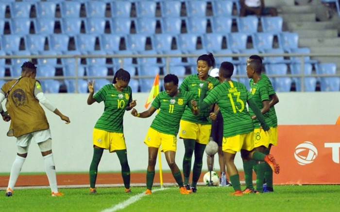 Banyana Banyana celebrates their win over Equatorial Guinea on 21 November 2018. Picture: @CapeTownFC/Twitter