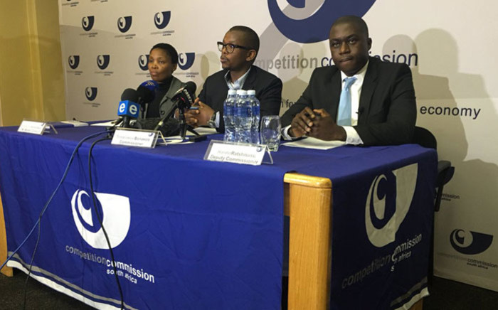 Members of the Competition Commission's executive committee, Nompucuko Nontombana (left), Tembinkosi Bonakele (centre) and Hardin Ratshisusu (right). Picture: @CompComSA/Twitter