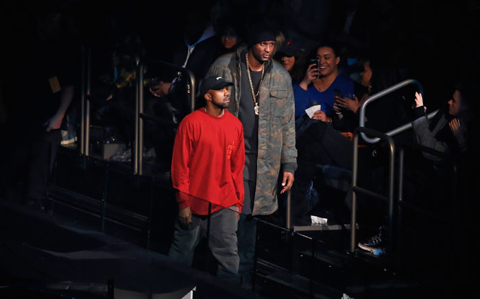 Kanye West (L) and Lamar Odom attend Kanye West Yeezy Season 3 on 11 February 2016 in New York City. Picture: JP Yim/Getty Images for Yeezy Season 3/AFP.