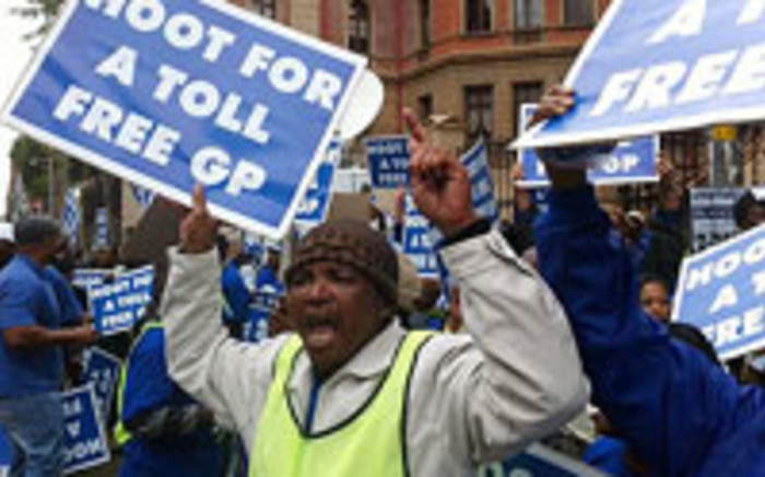 Protests outside the North Gauteng High Court against Toll Roads.