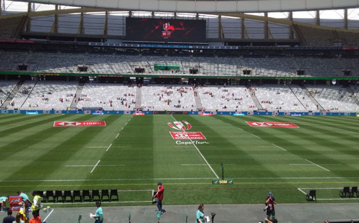 Cape Town Stadium gets ready for the HSBC World Rugby Sevens Series on 13 December 2019. Picture: Ayanda Felem/EWN