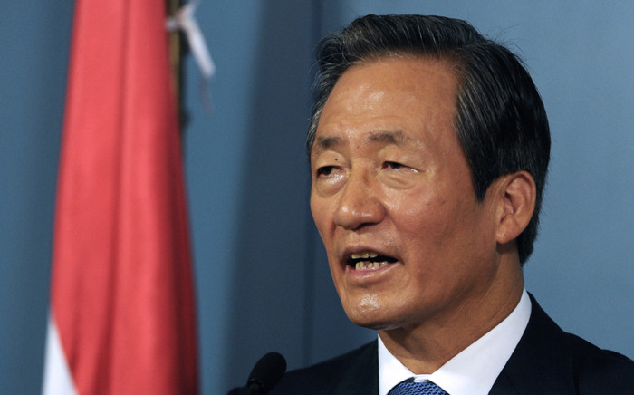The former vice-president of the Fifa, South Korean businessman Chung Mong-joon. Picture: AFP.