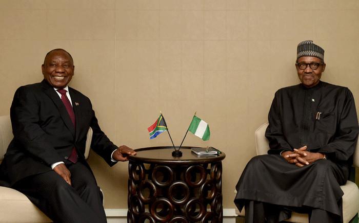 FILE: President Cyril Ramaphosa and President Muhammadu Buhari of Nigeria. Picture: GCIS.