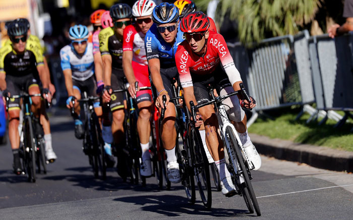 Arkea-Samsic team leader Nairo Quintana leads a group of cyclists during a stage of the 2020 Tour de France. Picture: @Arkea_Samsic/Twitter