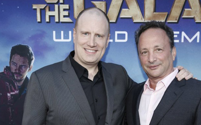 'Guardians of the Galaxy' producer Kevin Feige and executive producer Louis D'Esposito. Picture: Facebook.