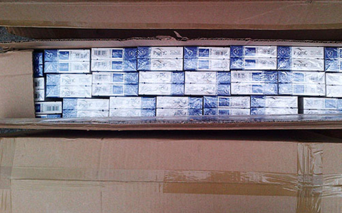 FILE: Authorities discover a truck containing illegal cigarettes. Picture: Supplied.