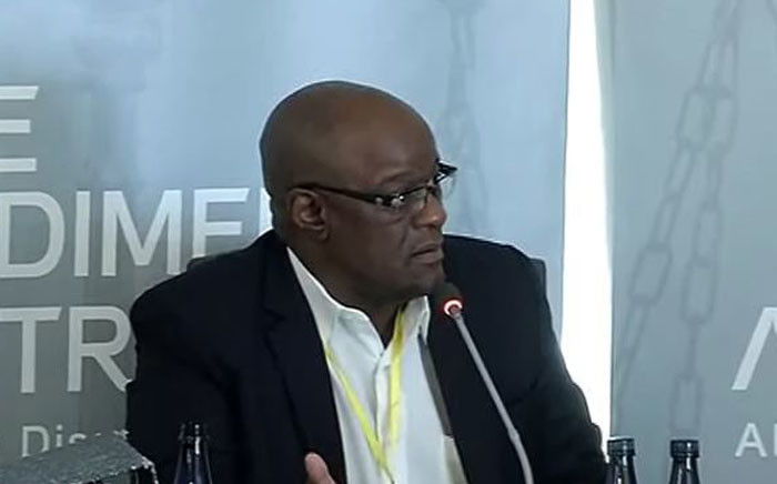 A screengrab of suspended Gauteng Health HOD Dr Barney Selebano at the Esidimeni hearing on 6 December 2017. Picture: Screengrab/Youtube