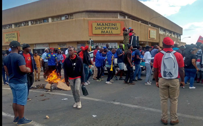 eSwatini's civil servants demonstrate for salary increase and better working conditions on 2 October 2019 in Manzini. Picture: AFP