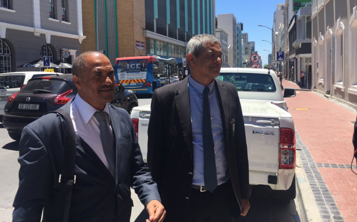 Former deputy provincial commissioner Jeremy Veary (R) and former SAPS Crime Intelligence head Peter Jacobs have approached the Labour Court in attempt to get their jobs back. Picture: Eyewitness News.