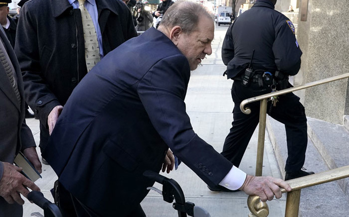Harvey Weinstein arrives at the Manhattan Criminal Court, on 24 February 2020 in New York City. Picture: AFP