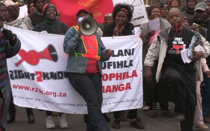 Right2Know campaign welcomed a High Court ruling allowing it to picket outside the Seriti commission.
