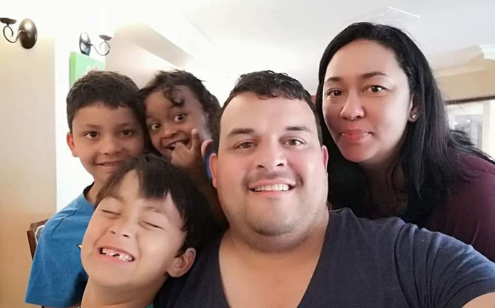 The McKenzie family tested positive for the coronavirus in February and have called on their fellow South Africans to adhere to protocols. Picture: Supplied