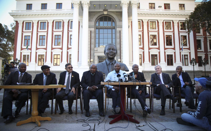 FILE: Political party leaders sit together outside Parliament. Picture: Moeketsi Moticoe/EWN