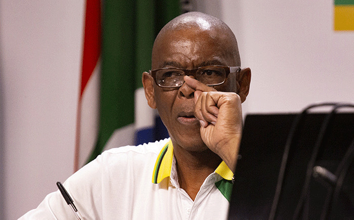 ANC secretary-general Ace Magashule noting questions at an ANC press briefing on 22 January. Picture: Kayleen Morgan/EWN.
