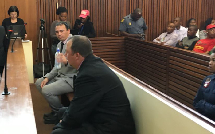 Willem Oosthuizen and Theo Jackson were convicted of attempted murder, assault, kidnapping and intimidation after they were recorded on video forcing Rethabile Mlotshwa into a coffin. Picture:  Pelane Phakgadi/EWN