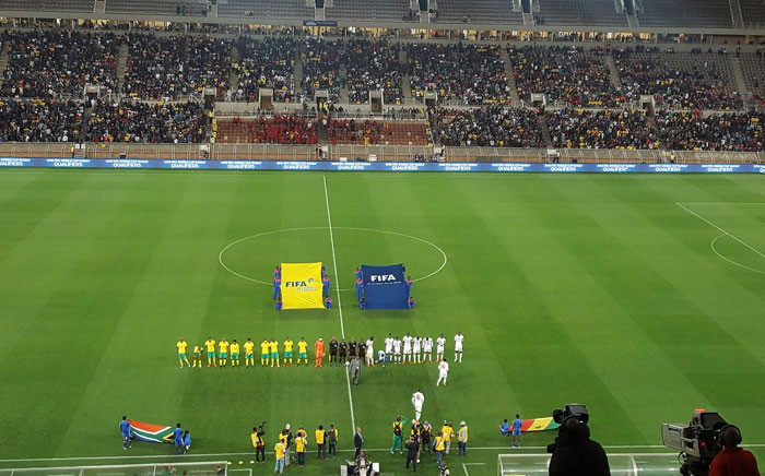 Bafana Banafa vs Senegal for the World Cup qualifier in Polokwane on 10 November 2017. Picture: Morena Mothupi/EWN.