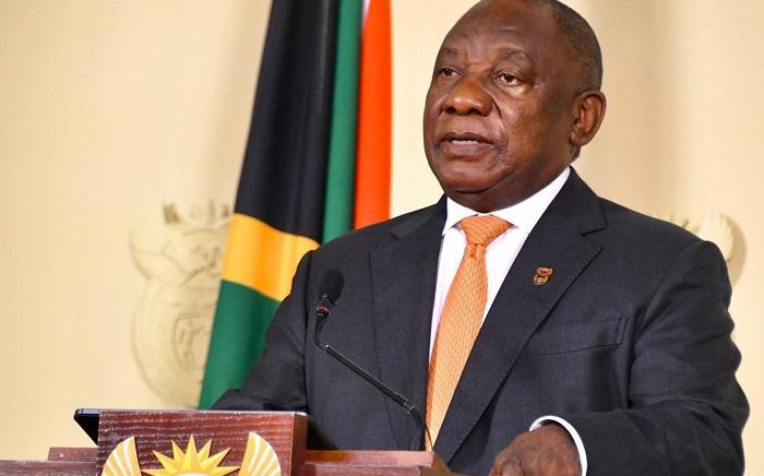 President Cyril Ramaphosa addressing the nation on Thursday, 23 April 2020. Picture: GCIS