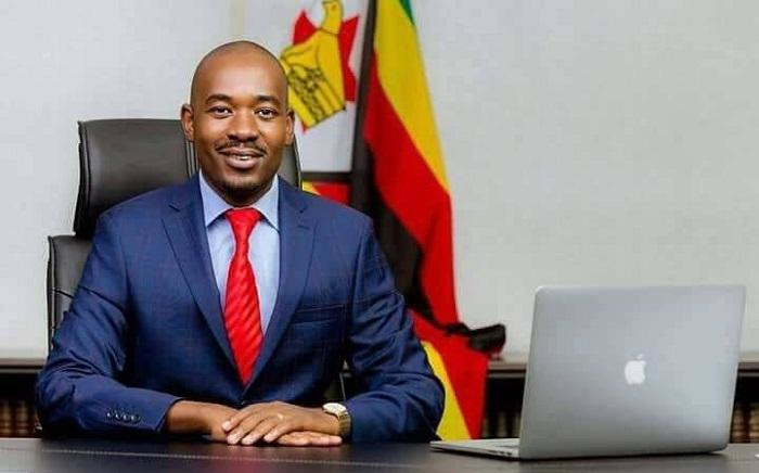 MDC leader Nelson Chamisa. Picture: @NelsonChamisa/Twitter.