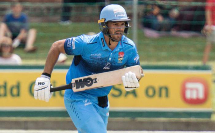 Titans batsman Aiden Markram scampers through for a quick single. Picture: @Titans_Cricket/Twitter