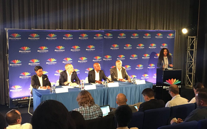 Multichoice management briefs the media on the outcome of the review into their relationship with ANN7. Picture: Gia Nicolaides/EWN.