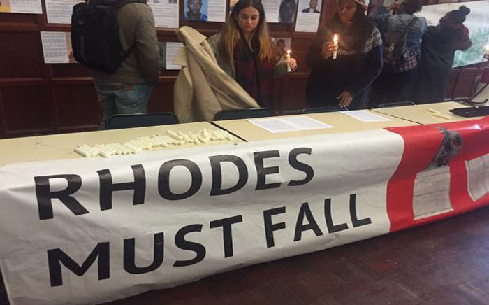 FILE: The University of Cape Town's (UCT) student group, Rhodes Must Fall, called for Ian Farlam to be removed from the university's council. Picture: Masa Kekana/EWN.