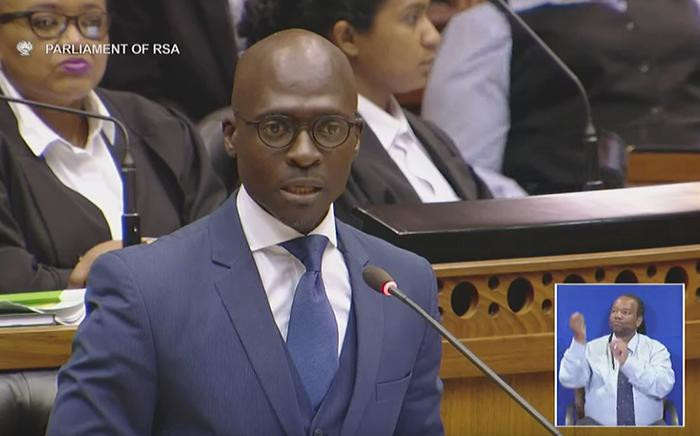 Finance Minister Malusi Gigaba delivers his first Medium Term Budget Policy Statement.  Picture: YouTube