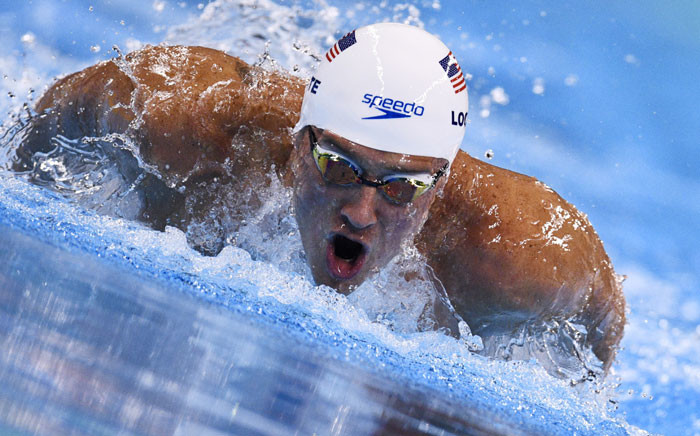USA's Ryan Lochte competes in a Men's 200m Individual Medley heat during the swimming event at the Rio 2016 Olympic Games at the Olympic Aquatics Stadium in Rio de Janeiro on August 10, 2016. Picture: AFP.