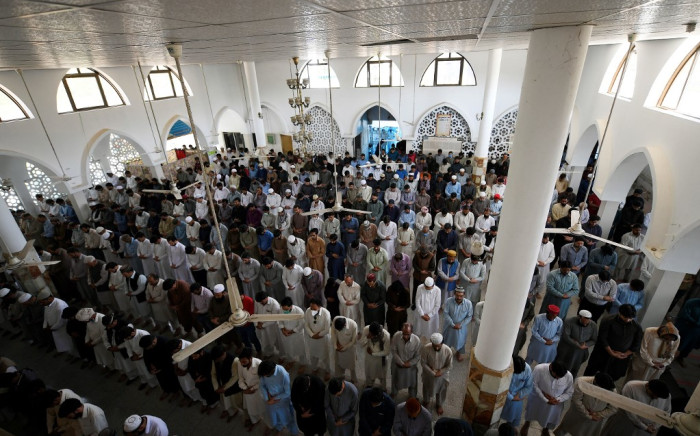 FILE: In this picture taken on 23 April 2021, Muslim devotees offer Friday noon prayer at a mosque during their holy month of Ramadan in Islamabad amid the COVID-19 coronavirus pandemic.  Picture: AFP