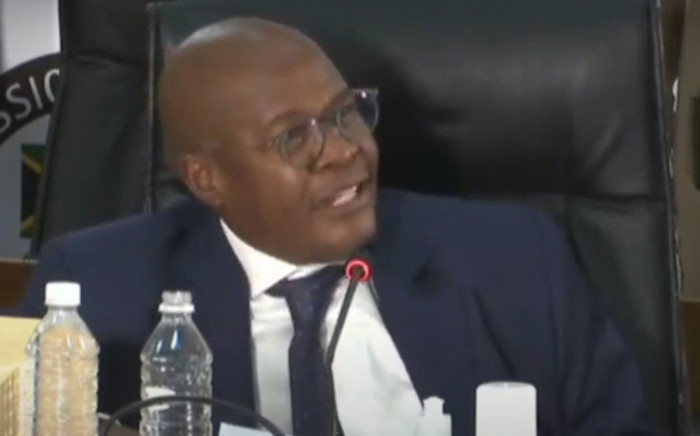 Former Eskom CEO Brian Molefe appears at the state capture inquiry on 15 January 2021. Picture: SABC/YouTube