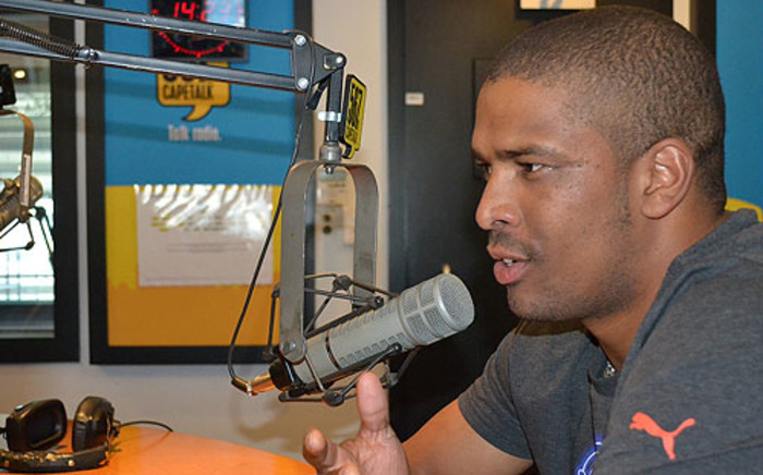 Proteas star bowler Vernon Philander in the 567 Capetalk studios on 4 June 2012. Picture: Phumzile Malotana/EWN