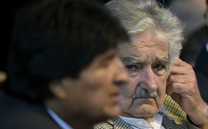 FILE: Uruguay's President Jose Mujica (R). Picture: AFP
