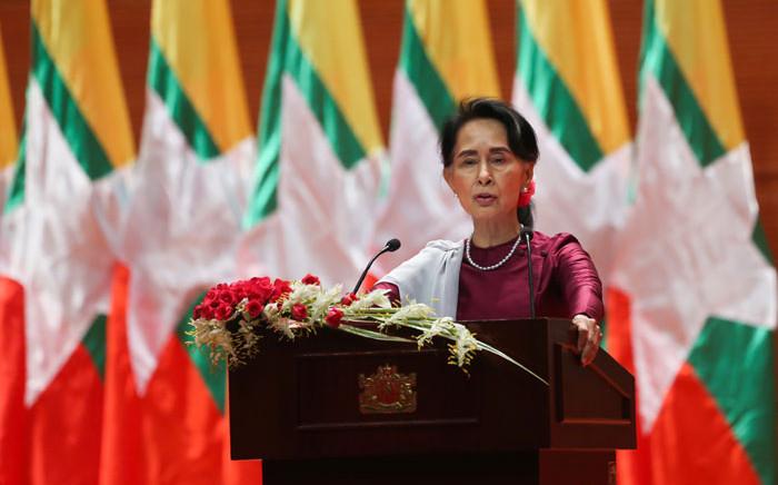 Myanmar leader Aung San Suu Kyi. Picture: AFP