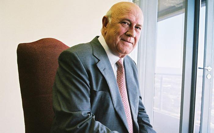 FILE: Former South African president FW de Klerk. Picture: FW de Klerk Foundation Facebook page.