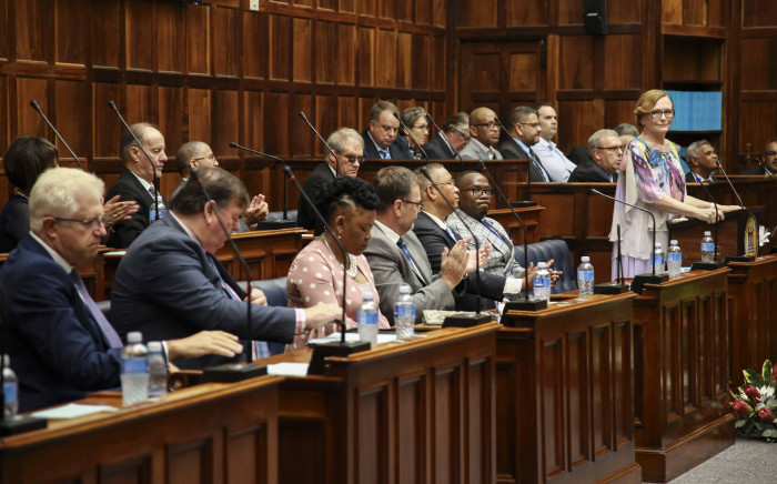 Western Cape Premier Helen Zille delivers her last State of the Province Address in the legislature on 15 February 2019. Picture: Cindy Archillies/EWN